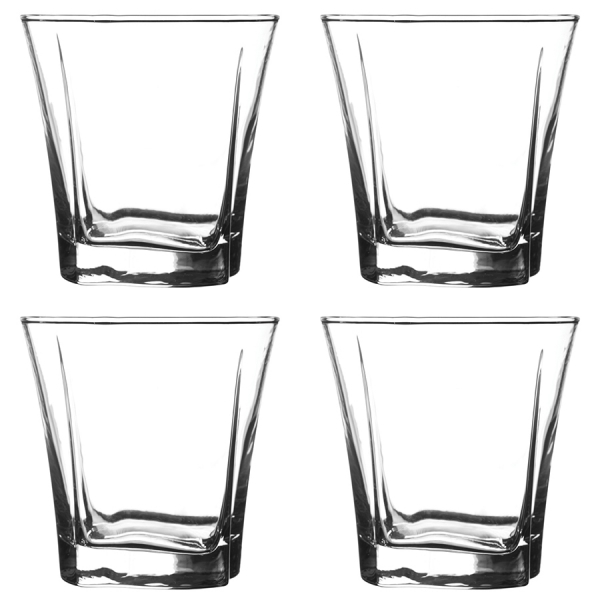 Набор из 4 стаканов luna 230 мл