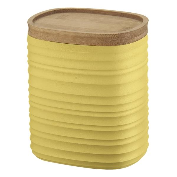Емкость для хранения с бамбуковой крышкой tierra 1 л желтая