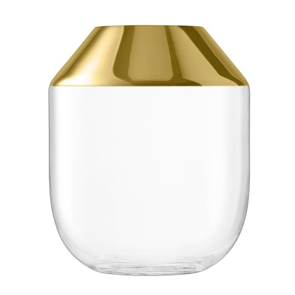 Ваза space 39 см золото