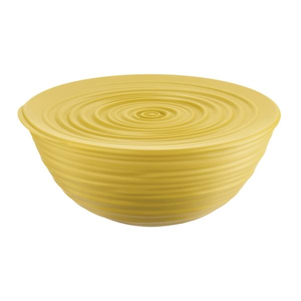 Миска с крышкой tierra 25 см желтая
