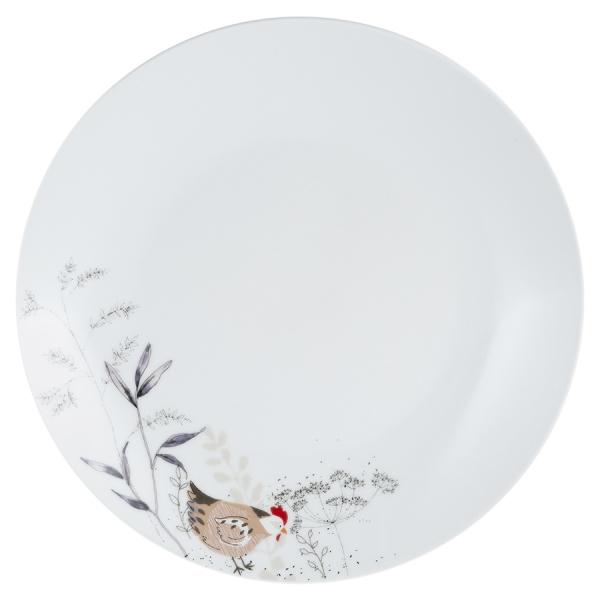 Тарелка обеденная country hens d 26,5 см