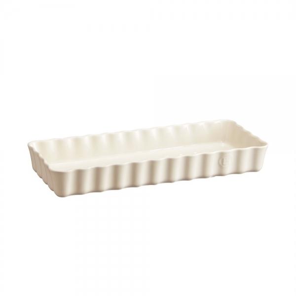 Форма для пирога прямоугольная, 15х36 см, Emile Henry Крем