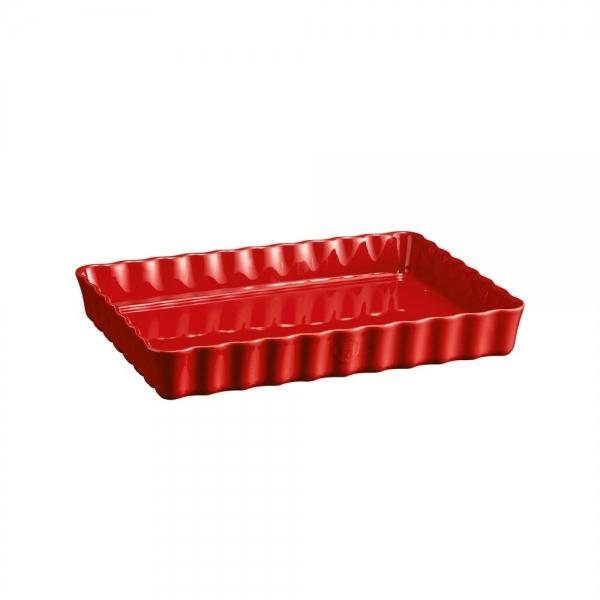 Форма для пирога прямоугольная, 24х34 см, Emile Henry Гранат