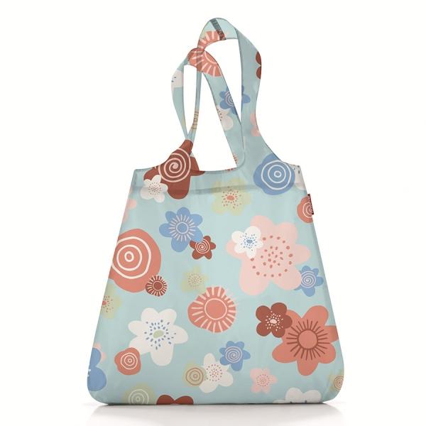 Сумка складная mini maxi shopper flowers blue