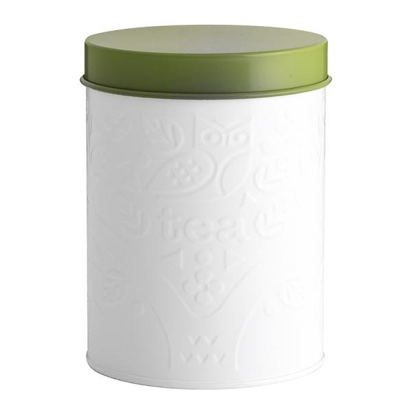 Емкость для хранения чая in the forest белая-зеленая