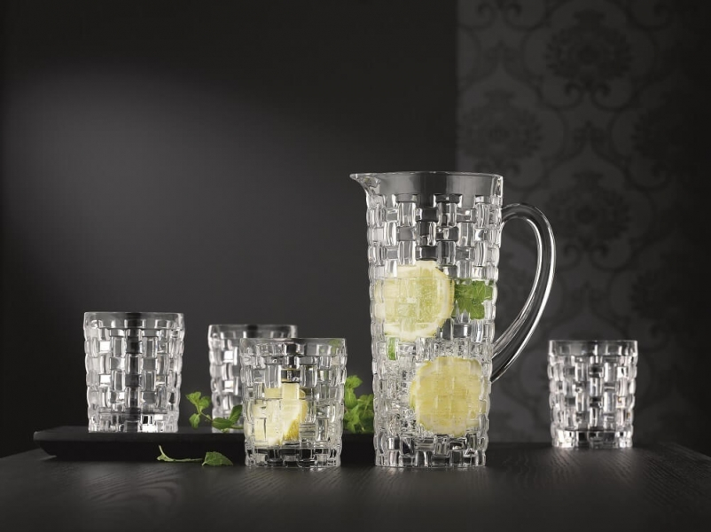 BOSSA NOVA - Набор 5 предметов графин + 4 стакана для виски, бессвинцовый хрусталь