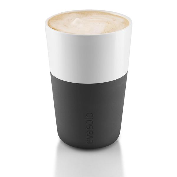 Чашки для латте 2 шт 360 мл черные
