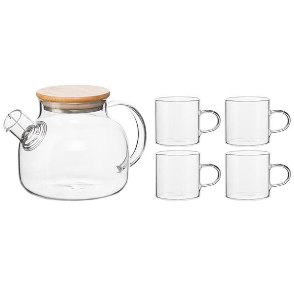Чайный набор из чайника и 4 чашек