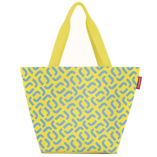 Сумка shopper m signature lemon