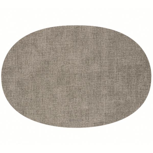 Салфетка подстановочная овальная двухсторонняя fabric светло-коричневая