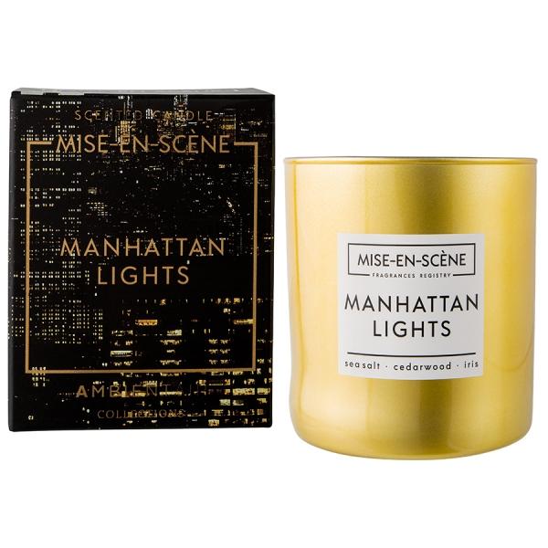 Свеча ароматическая mise en scene manhattan lights 50 ч (новая)