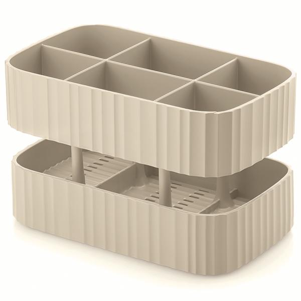 Сушилка для столовых приборов drain&safe кремовая