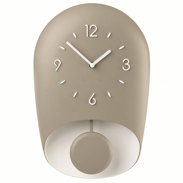 Часы настенные с маятником home кремовые