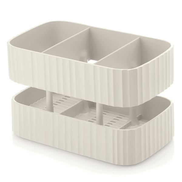 Органайзер для раковины tidy&safe молочно-белый