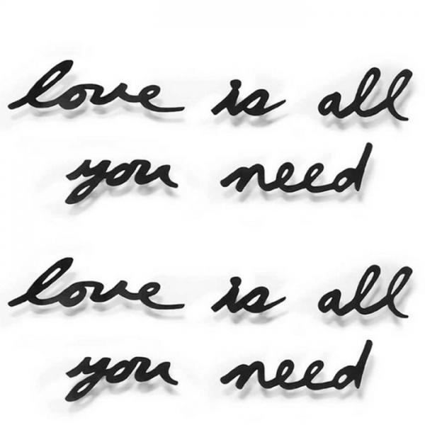 Надпись декоративная Love is all you need настенная черная Umbra
