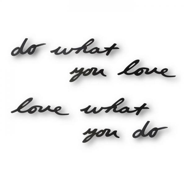 Надпись декоративная Do what you love настенная черная Umbra