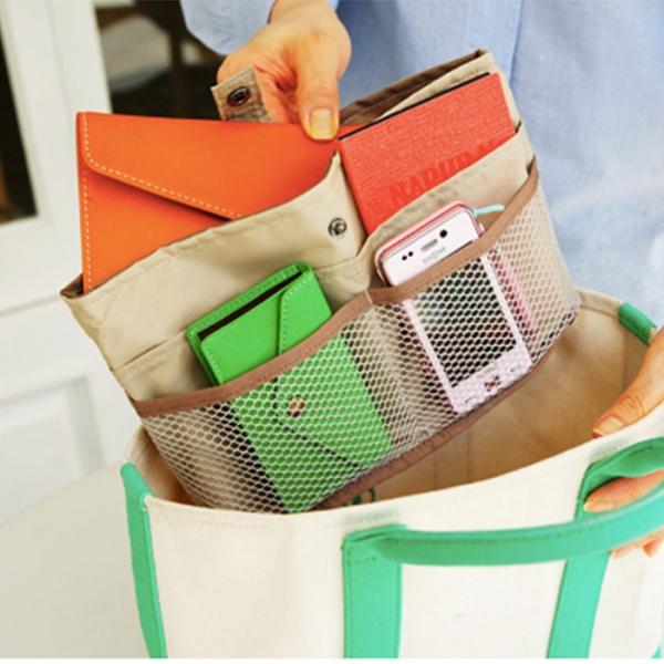 Органайзер для сумки малый бежевый