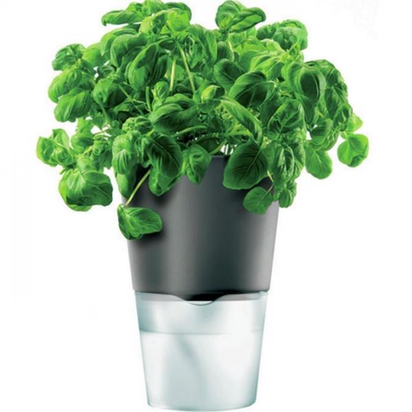 Горшок для растений с естественным поливом диаметр - 13 см темно-серый Eva Solo
