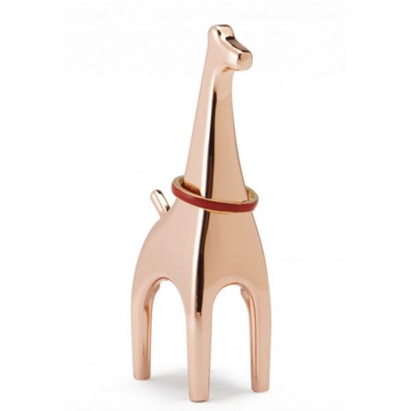 Подставка для колец Anigram жираф медь Umbra