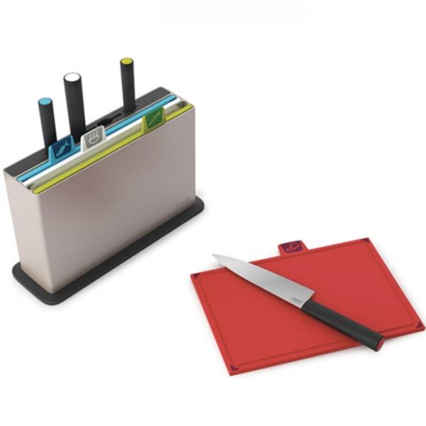 Набор разделочных досок с ножами Index™ with knives серебристый Joseph Joseph