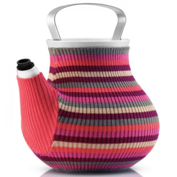 Чайник заварочный My Big Tea в вязаном чехле 1,5 л розовый в полоску Eva Solo