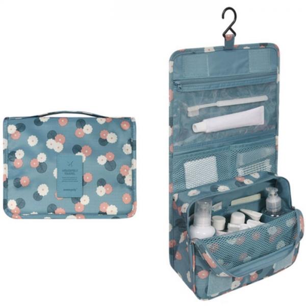 Органайзер для туалетный принадлежностей TOILETRY POUCH голубой с ромашками