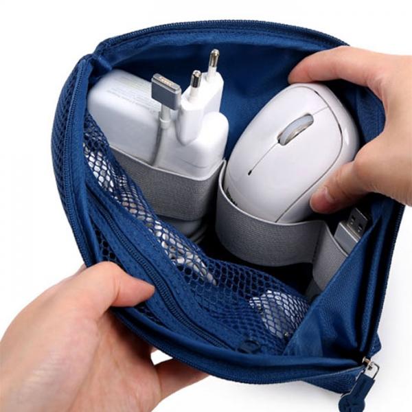 Органайзер для зарядных устройств CABLE POUCH size L синий