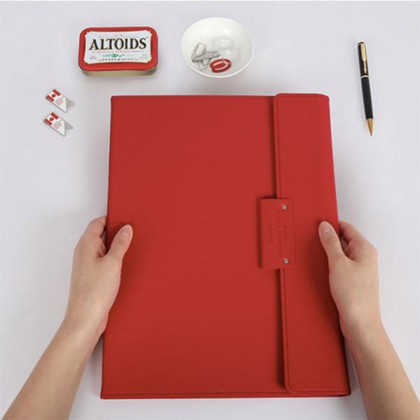 Папка для бумаг GRAND CLASSY A-POCKET FILE красная
