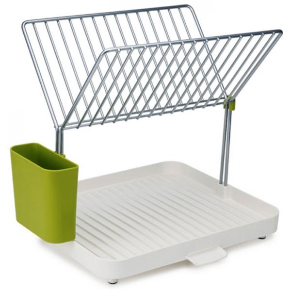 Сушилка для посуды и столовых приборов 2-уровневая со сливом Y-rack белый/зеленый Joseph Joseph