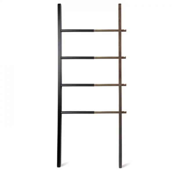 Вешалка-лестница Umbra HUB чёрный/орех