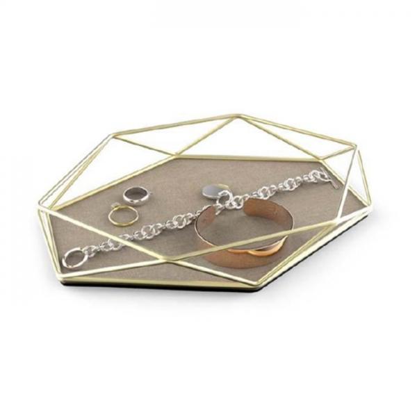 Оргайзер-поднос для украшений Umbra PRISMA матовая латунь