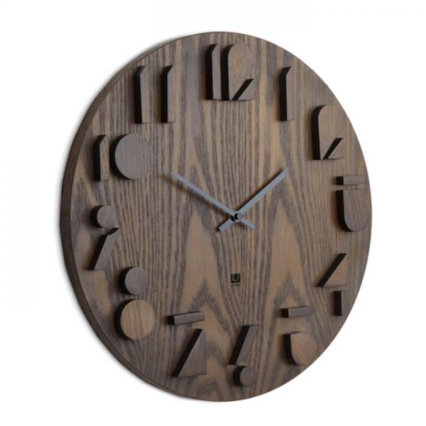 Часы настенные Umbra SHADOW орех