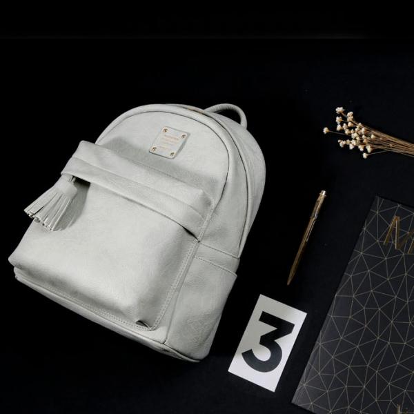 Женский рюкзак NUEVO MINI OFFICE BACKPACK средний светло-серый