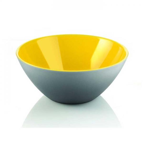 Салатница My Fusion 20 см серая/желтая Guzzini