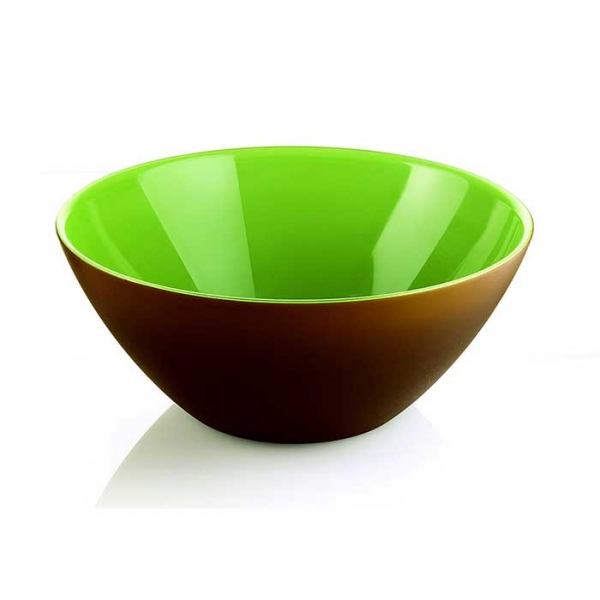 Салатница My Fusion 20 см коричневая/зеленая Guzzini