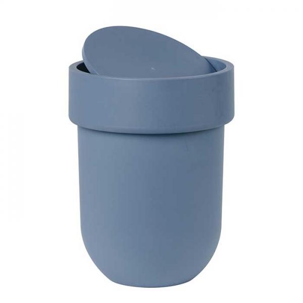 Контейнер мусорный Touch с крышкой дымчато-синий Umbra