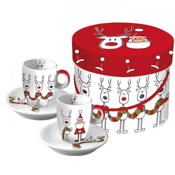 Чашки для эспрессо (80 мл) в подарочной коробке Rudis Scarf