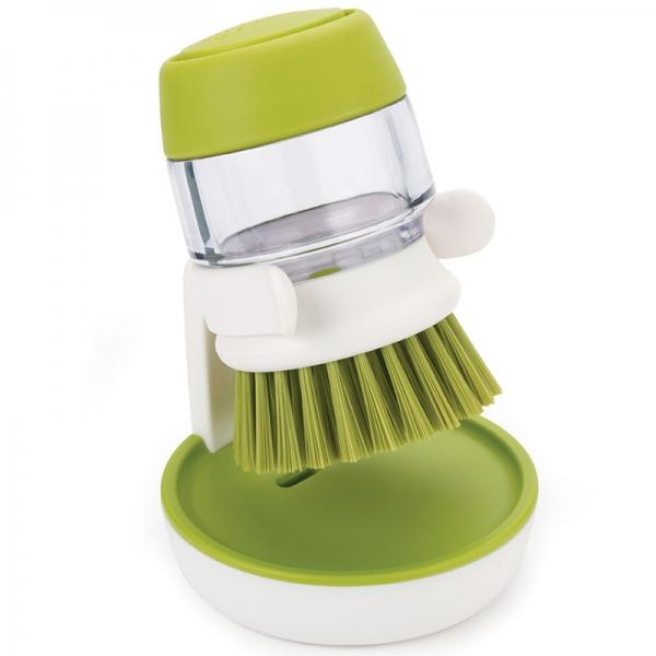 Щетка с дозатором моющего средства JOSEPH JOSEPH palm scrub™ зеленая