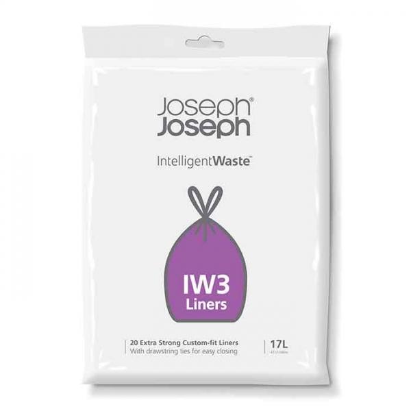 Пакеты для мусора Joseph Joseph iw3 17л (20 штук)