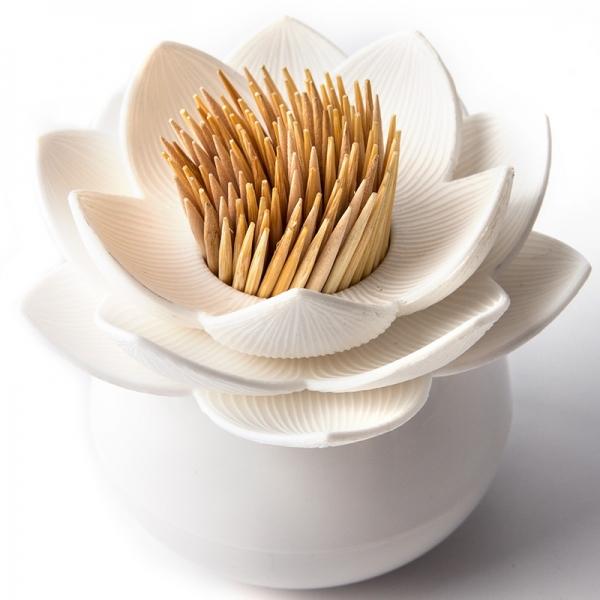 Держатель для зубочисток lotus белый
