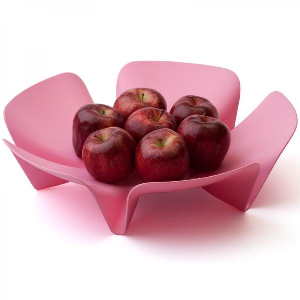 Ваза для фруктов flower розовая