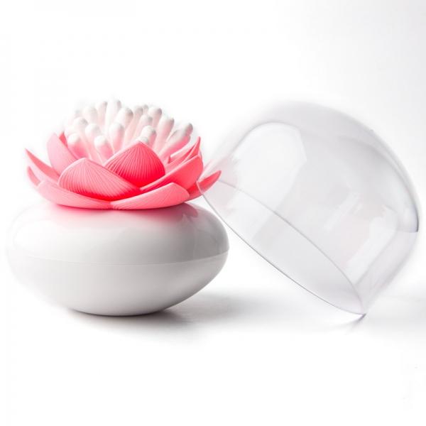 Контейнер для хранения ватных палочек lotus белый/розовый
