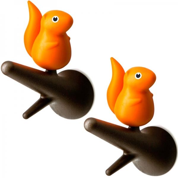 Вешалки настенные squirrel 2 шт. коричневые/оранжевые