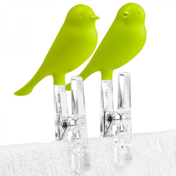 Прищепки sparrow 4 шт. зеленые