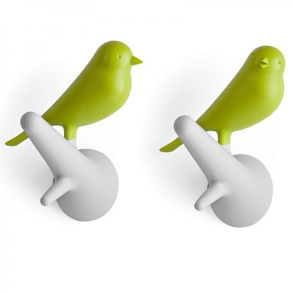 Вешалки настенные sparrow 2 шт. белые/зеленые