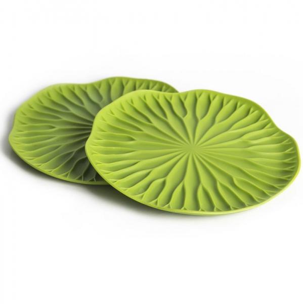 Подставки под бокалы 2 шт lotus зеленый