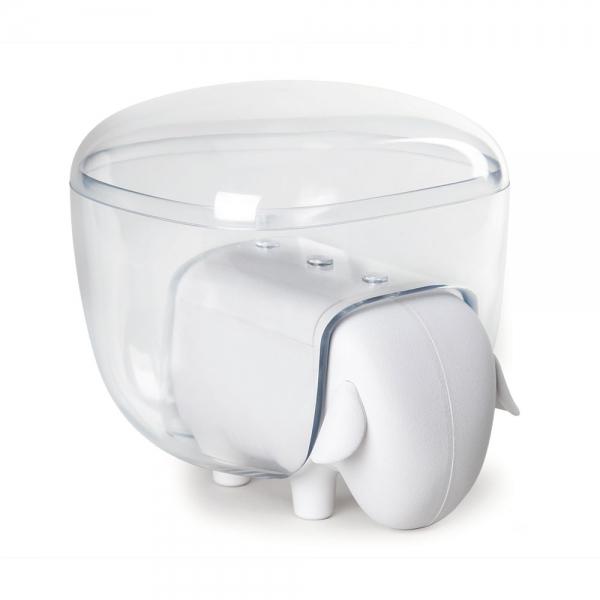 Держатель для ватных дисков sheep белый/прозрачный