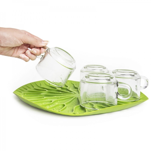 Сушилка-поднос lotus зеленая