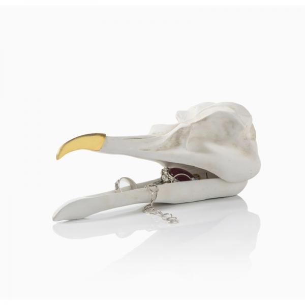 Шкатулка для украшений bird skull (белый)