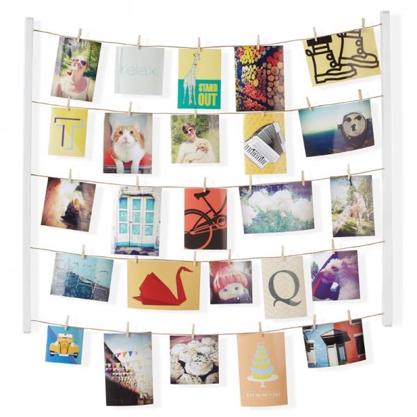 Панно с зажимами для 40 фотографий hangit белое